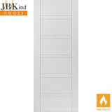 Internal White Primed IMPERIAL Horizontal Line Grooved Fire Door FD30