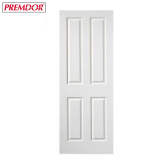 Internal White Primed 4 PANEL Moulded Textured Door
