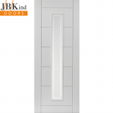 Internal White Primed BARBICAN 1 Light Etched Glazed Door
