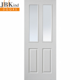 Internal White Primed CANTERBURY Moulded Grained Etched Glazed Door