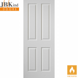JB Kind Internal White Primed Smooth Canterbury Panelled Fire Door