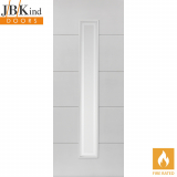 Internal White Primed DOMINION 1 Light Etched Glazed Fire Door FD30
