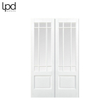 Internal White Primed DOWNHAM Clear Bevelled Glazed Rebated Door Pair