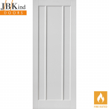 Internal White Primed JAMAICA Contemporary 3 Panel Fire Door FD30