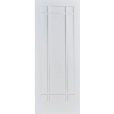 LPD Internal White Primed MANHATTAN Panelled Fire Door FD30