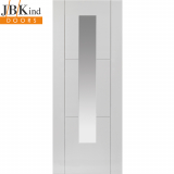 Internal White Primed MISTRAL 1 Light Clear Glazed Door