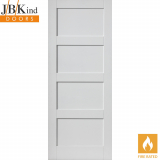 Internal White Primed MONTSERRAT 4 Panel Fire Door FD30