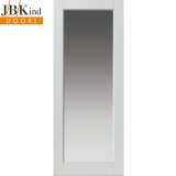 Internal White Primed TOBAGO 1 Light Clear Glazed Door