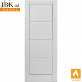 Internal White Primed QUATTRO Moulded Smooth Fire Door FD30