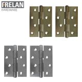 Frelan Hardware Pair of Heavy Duty Steel Butt Door Hinges