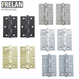 Frelan Hardware Pair of Ball Bearing Door Hinges