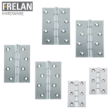 Frelan Hardware Pair of Polished Chrome Double Phosphor Bronze Washered Hinges