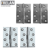 Frelan Hardware Pair of Double Phosphor Bronze Washered Hinges