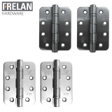 Frelan Hardware Pair of Grade 13 Fire Rated Stainless Steel Radiused Ball Bearing Door Hinges