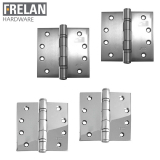 Frelan Hardware Pair of Stainless Steel Ball Bearing Door Hinges