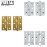 Frelan Hardware Pair of Grade 7 Fire Rated Stainless Steel Ball Bearing Door Hinges