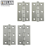 Frelan Hardware Pair of Grade Stainless Steel Washered Hinges