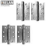 Frelan Hardware Pair of Grade 13 Fire Rated Grade 316 Stainless Steel Ball Bearing Door Hinges