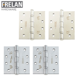 Frelan Hardware Pair of Grade 13 Fire Rated Stainless Steel Polymer Bearing 5 Knuckle Door Hinges