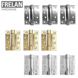 Frelan Hardware Pack of 3 Steel Spring Door Hinges