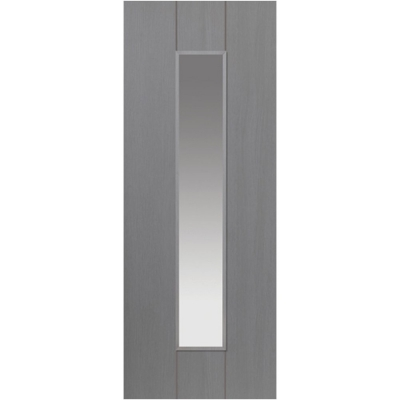 JB Kind Internal ARDOSIA Pre-Finished Painted Grey 1 Light Clear Glazed Door