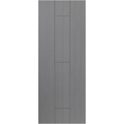 JB Kind Internal ARDOSIA Pre-Finished Painted Grey Grooved Flush Fire Door FD30