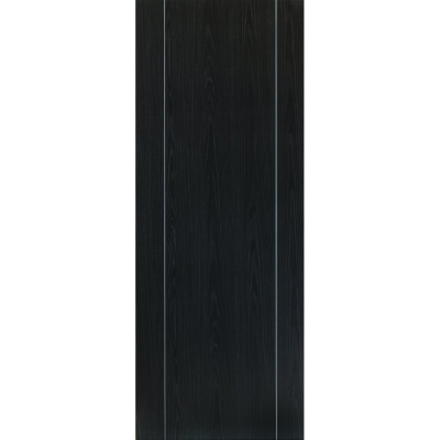 JB Kind Internal ARGENTO Pre-Finished Painted Ash Grey Vertical Grooved Fire Door FD30