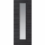 JB Kind Internal GRIGIO Pre-Finished Painted Ash Grey 1 Light Clear Glazed Door