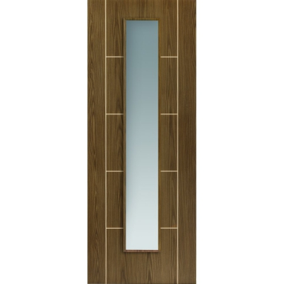 JB Kind Internal MOCHA Pre-Finished Painted 1 Light Clear Glazed Door
