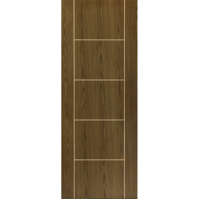 JB Kind Internal MOCHA Pre-Finished Painted Grooved Ladder Style Flush Fire Door FD30