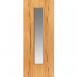 JB Kind Internal Oak ARCOS Pre-Finished 1 Light Clear Glazed Door