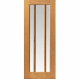 JB Kind Internal Oak DARWEN 3 Light Clear Glazed Door
