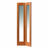 JB Kind Internal Oak Fuji Shaker Clear Glazed Bi-Fold Door