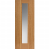 JB Kind Internal Oak Juno Pre-finished Glazed Door