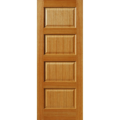 JB Kind Internal Oak MERSEY Traditional Raised 4 Panel Fire Door FD30