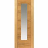 JB Kind Internal Oak MISTRAL Pre-Finished 1 Light Clear Glazed Door