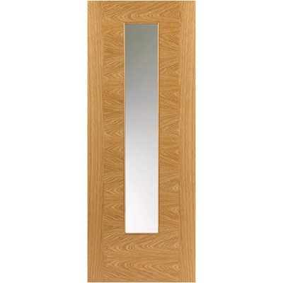 JB Kind Internal Oak OSTRIA Pre-Finished 1 Light Clear Glazed Door