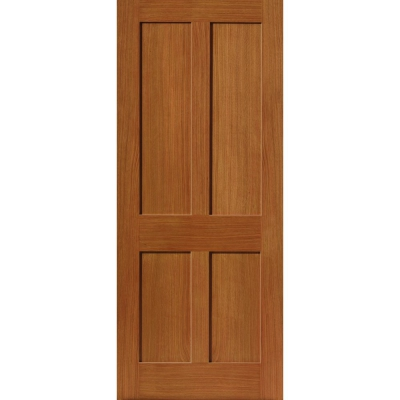 JB Kind Internal Oak RUSHMORE Shaker Style 4 Panel Fire Door FD30