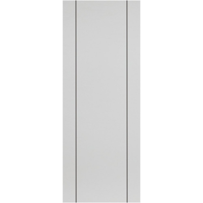 Internal PARELO Pre-Finished White Painted Vertical Grooved Fire Door FD30
