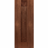 JB Kind Internal Walnut AXIS Pre-Finished Shaker 1 Panel Fire Door FD30