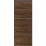JB Kind Internal Walnut LARA Pre-Finished Horizontal 4 Line Flush Fire Door FD30