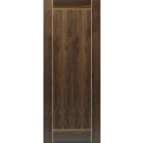 JB Kind Internal Walnut VINA Pre-Finished 1 Panel Inlay Fire Door FD30