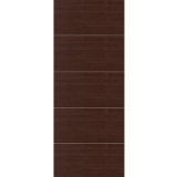 JB Kind Internal WENGE Pre-Finished Painted Horizontal 4 Line Flush Door
