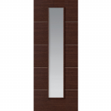 JB Kind Internal WENGE Pre-Finished Painted 1 Light Clear Glazed Door
