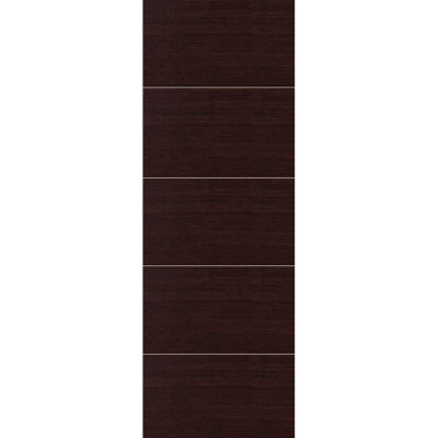 JB Kind Internal WENGE Pre-Finished Painted Horizontal 4 Line Flush Fire Door FD30