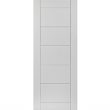 JB Kind Internal White Primed Apollo Grooved Flush Fire Door FD30