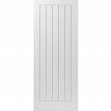 JB Kind Internal White Primed Cottage 5 Flush Door