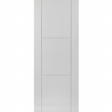 JB Kind Internal White Primed MISTRAL Grooved Flush Fire Door FD30