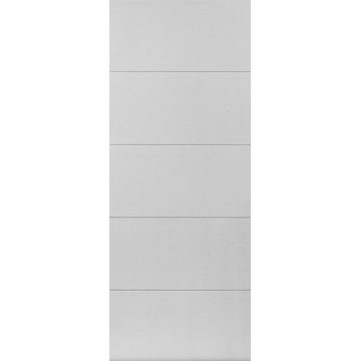 JB Kind Internal White Primed ADELPHI Horizontal 4 Line Flush Door