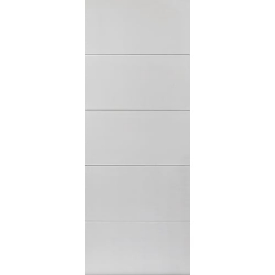 JB Kind Internal White Primed ADELPHI Horizontal 4 Line Flush Fire Door FD30